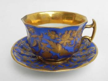 Cup and Saucer - white porcelain - 1860