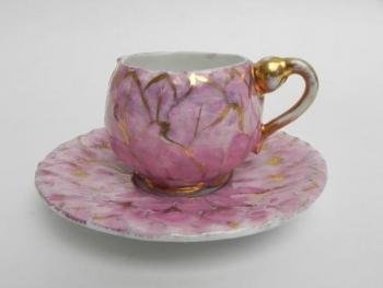 Cup and Saucer - white porcelain - 1905