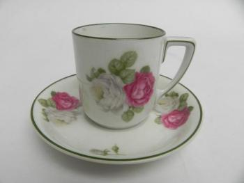 Cup and Saucer - white porcelain - Rosenthal - 1930
